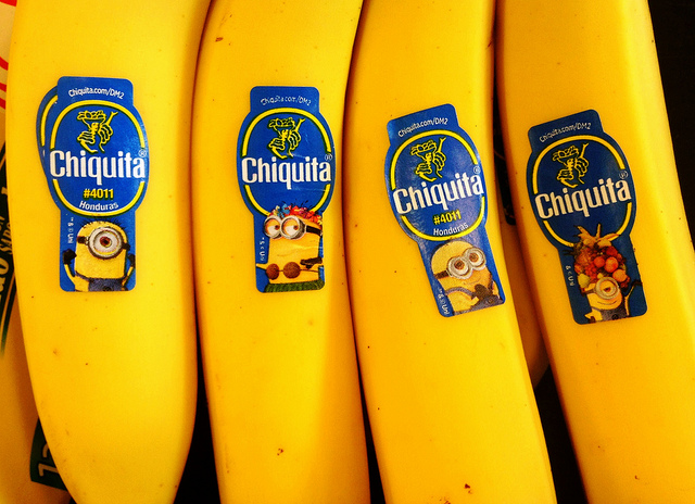 chiquita banana minion stickers