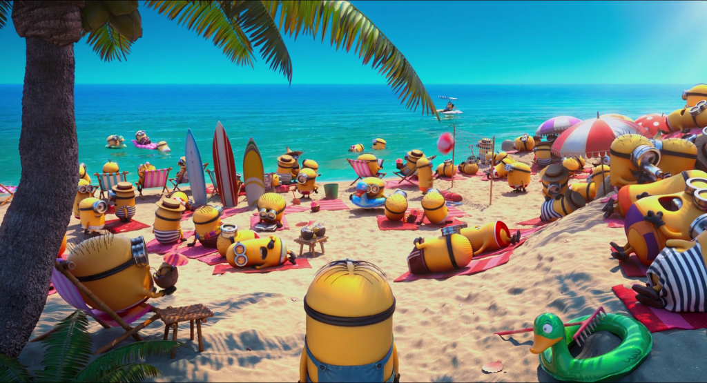 minions-at-the-beach