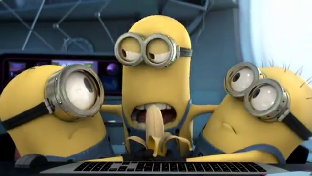 minions fight for banana