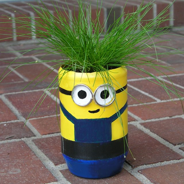 DIY minion craft ideas Planter