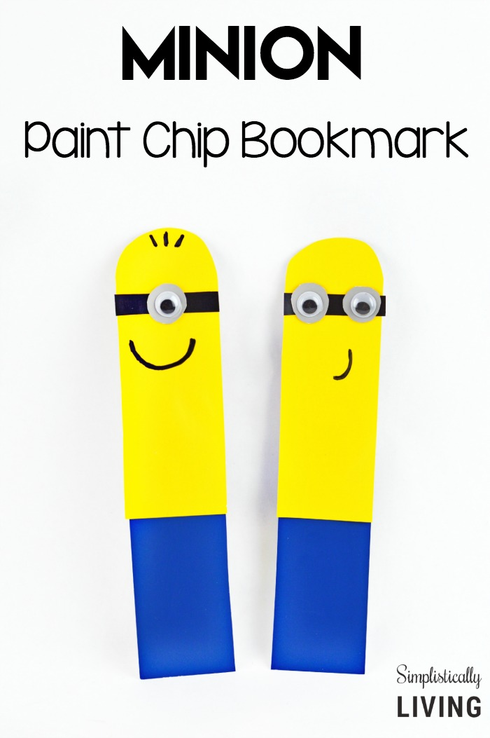 DIY minion craft ideas Bookmark