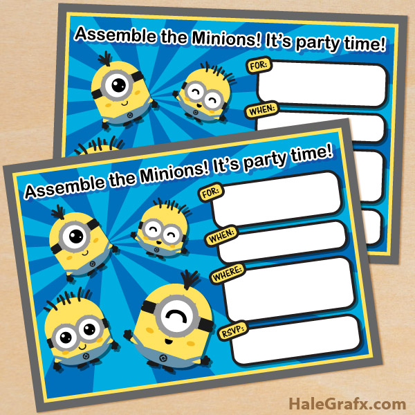 21 cool diy minion party ideas - minionsallday, Birthday invitations