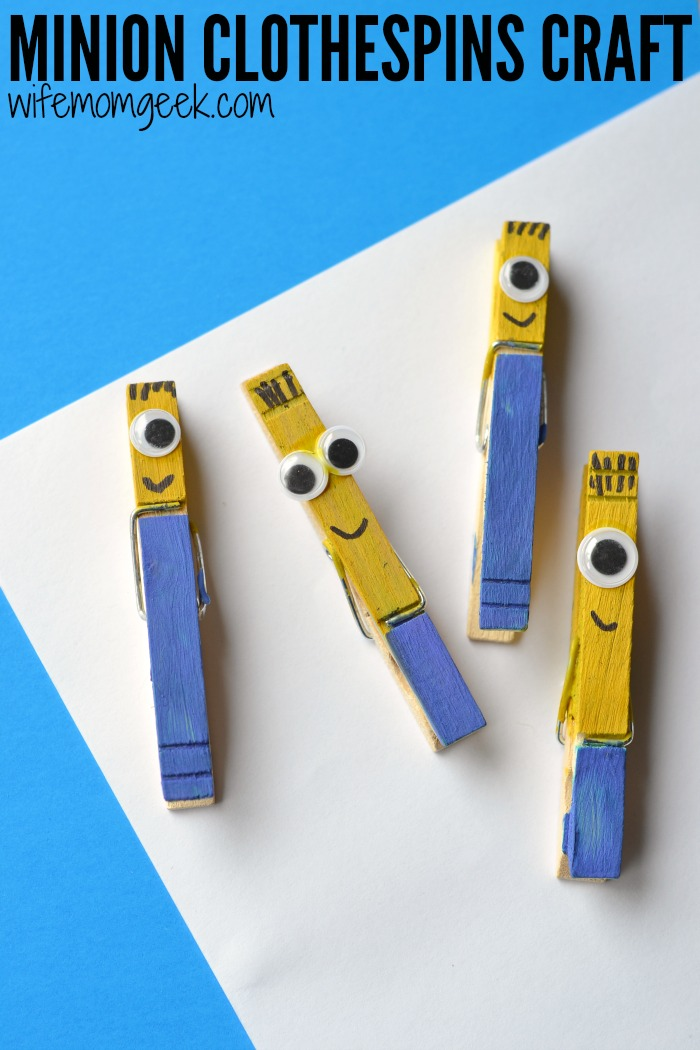 DIY minion craft ideas Clothespin