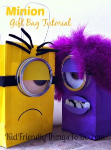 DIY minion craft ideas gift bags