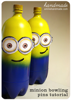 DIY minion craft ideas bowling pins