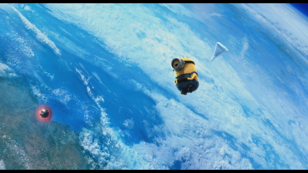 Bob floating in space after drinking anti-gravity serum.