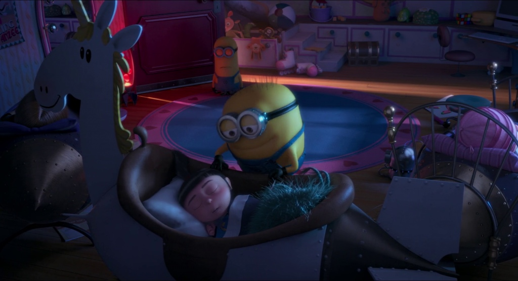 Jerry singing lullaby to Agnes.