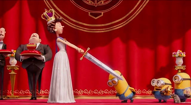 Kevin being knighted by Queen Elizabeth.