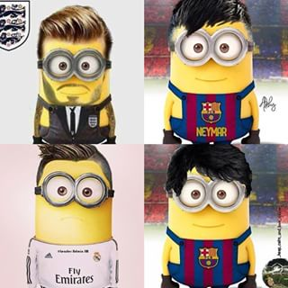 minion footballers minionsallday