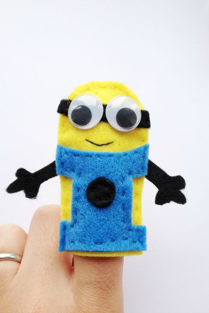 DIY minion craft ideas finger puppets