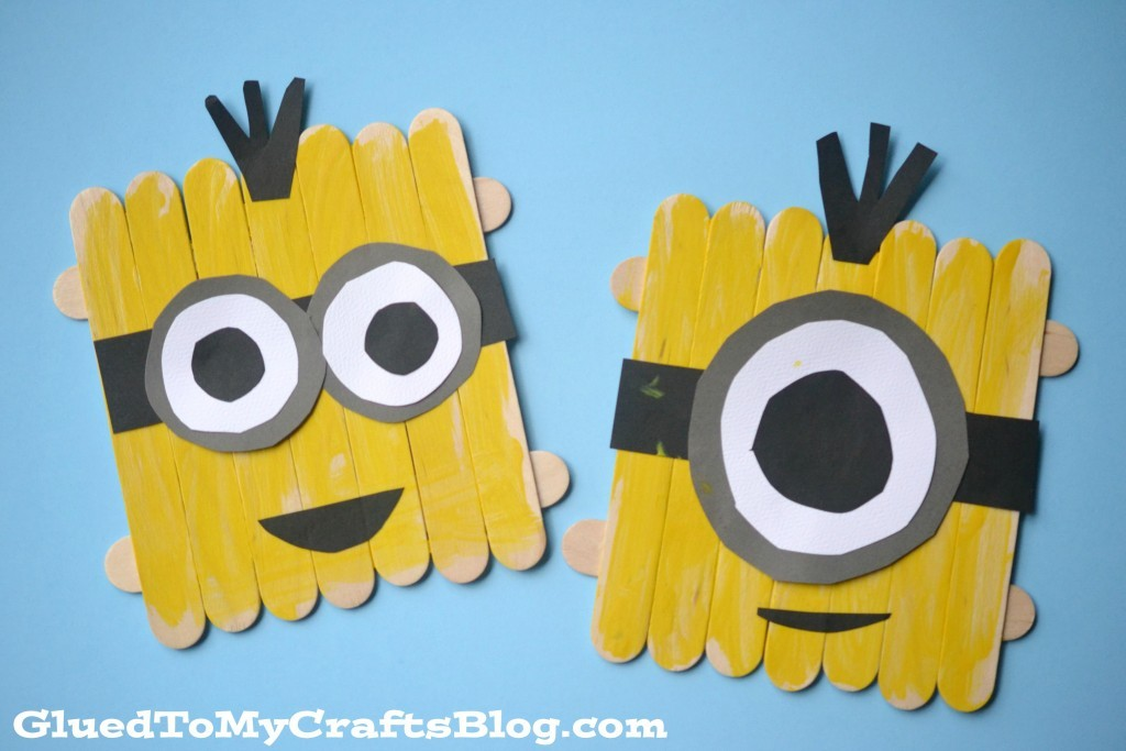 DIY minion craft ideas popsicle sticks