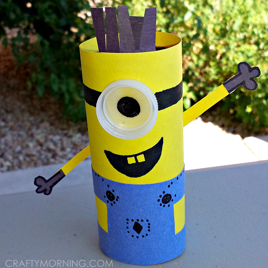 DIY minion craft ideas toilet roll